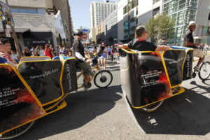 Samsung Galaxy and The Hunger Games Comic Con Pedicabs