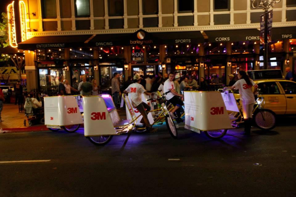 3M Pedicab Sponsorhip San Diego