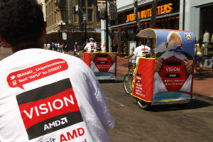 AMD Pedicab Outdoor Advertising Campaign