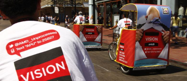 AMD Pedicab Outdoor Advertising Campaign